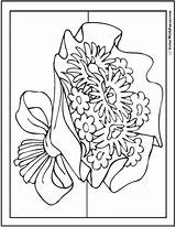 Coloring Pages Flower Bouquet Daisies Asters Daisy Pdf Colorwithfuzzy sketch template
