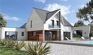 Maison Moderne Toit Plat : maison contemporaine sur mesure 44 56 85 depreux ~ Nature-et-papiers.com Idées de Décoration