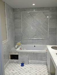 marble tile bathroom Edmonton Tile Install – White Marble Bathroom | River City ...