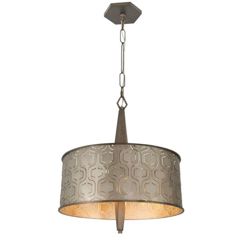 Home Depot Drum Light by Varaluz Iconic 3 Light Chagne Mist Drum Pendant With