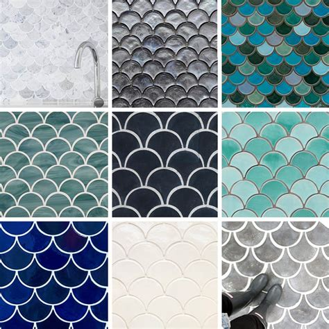 tile best sources for fish scale fan scallop design