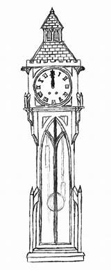 Clock Grandfather Coloring Pages Gothic Clocks Drawings Expensive Colorluna Sheets Goth Easy sketch template