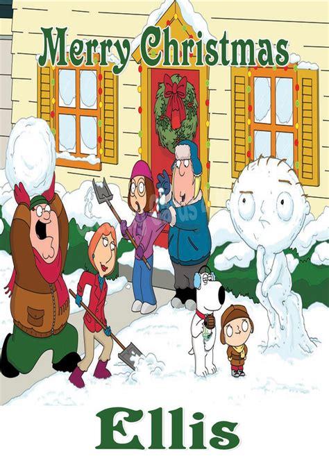 Family guy glasses headphones wallpaper. Personalised Family Guy Christmas Card
