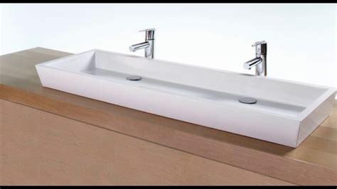 double faucet trough sink double trough sinks for bathrooms youtube