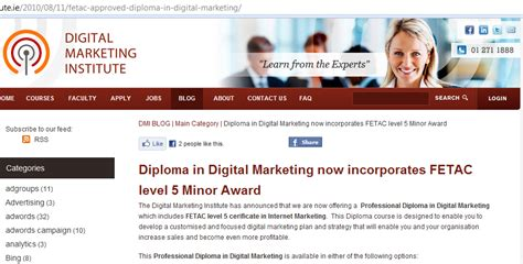 digital marketing institute accreditation digital marketing diplomas and fetac digital marketing