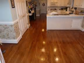 2 1 4 39 39 oak hardwood flooring stained golden oak and coated with a high gloss finish 804