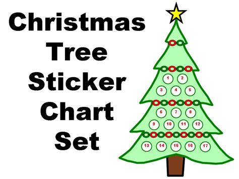 christmas tree sticker chart set other files documents