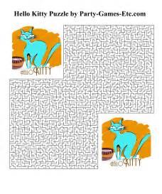 Printable Hello Kitty Birthday Party Games