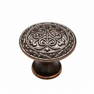 knobware 1 1 8 in venetian bronze cabinet knob c5178 1 1 With home depot furniture knobs