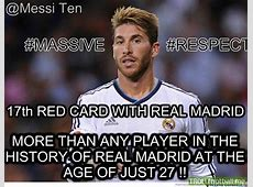 Sergio Ramos has most red cards in history of Real Madrid