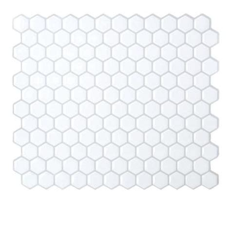 Smart Tiles Peel And Stick Hexagon by Smart Tiles 9 63 In X 11 27 In Peel And Stick Mosaic