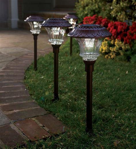 how to make outdoor solar lights garden path lights solar led pathway outdoor light