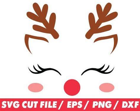 reindeer face svg files reindeer shirt svg christmas svg