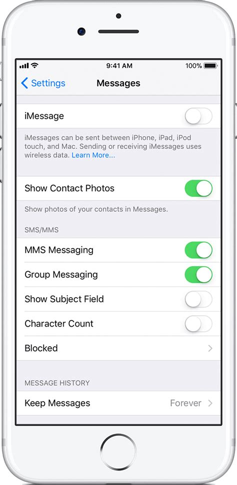 how to turn text messages on iphone deregister imessage on your iphone or apple support
