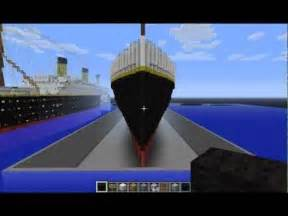 minecraft rms titanic departure travel and sinking doovi