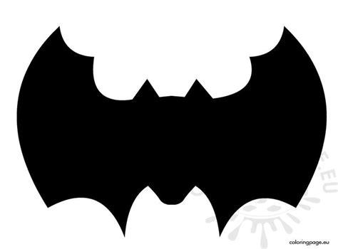 bat template  cut  coloring page