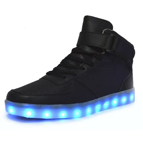 free light up shoes mid top led sneakers deluxe rechargeable led light up