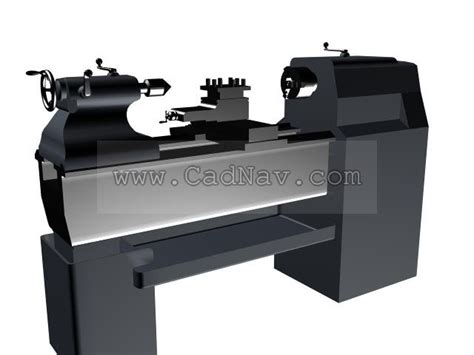 engine lathe  model dsmax files