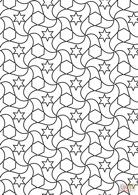Tessellations Coloring Pages Educational Coloring Pages
