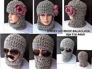 ravelry crob crochet unisex ski hat balaclava pattern