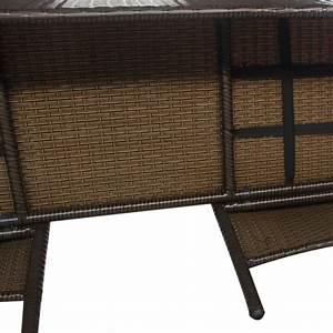 Gartenbank 3 Sitzer Rattan : vidaxl bank mit teetisch 2 sitzer poly rattan braun gartenbank gartenm bel set eur 106 99 ~ Bigdaddyawards.com Haus und Dekorationen