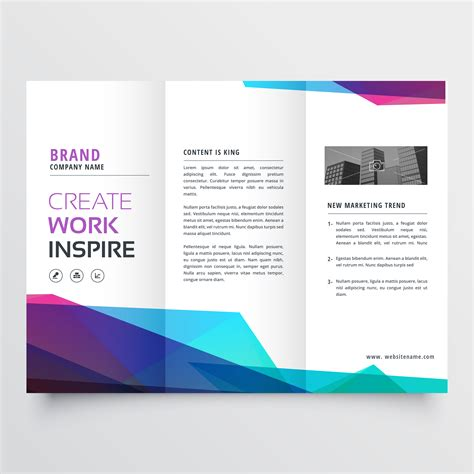 Abstract Colorful Brochure Design Template Vector Tri Fold Abstract Colorful Tri Fold Brochure Design Template