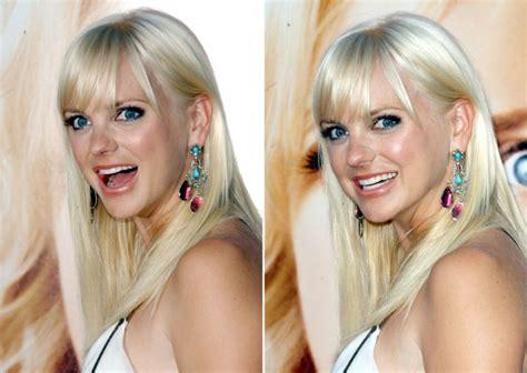 anna faris long blonde hair  peek  boo bangs