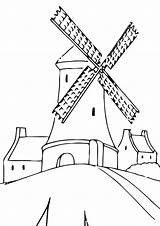 Mill Coloring Pages sketch template
