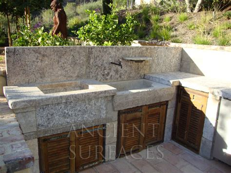 outdoor grill with sink french country limestone sink outdoor bbq kitchen sink 39 al