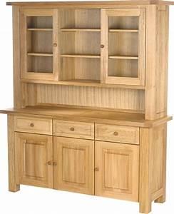 Charltons Bretagne Solid Oak 3 Door Complete Dresser Sideboard