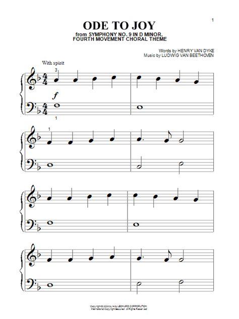 ode to joy sheet music direct