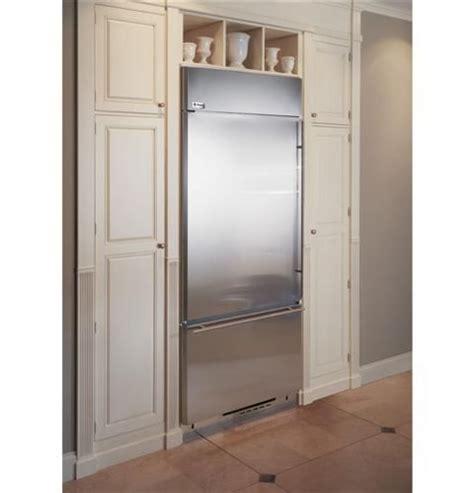 zicsnhlh ge monogram  built  bottom freezer refrigerator left hinge stainless