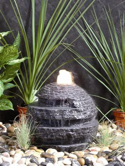rustic sphere marble water feature waterfeatures2go