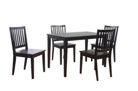 Black Kitchen Table Set Target by Target Marketing Systems 5 Shaker Dining Set With 4