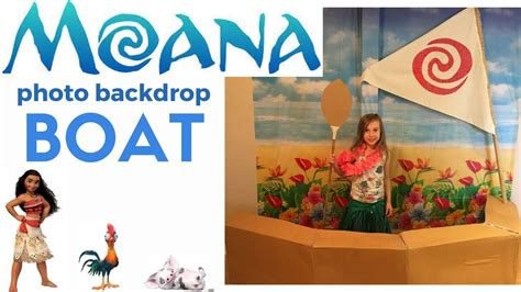 Moana Boat Prop by Make A Moana Boat And Sail Backdrop For A Moana Themed