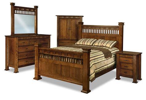 7 Bedroom Set Solid Wood Amish Luxury Mission Bed Set Solid Wood Post Bedroom