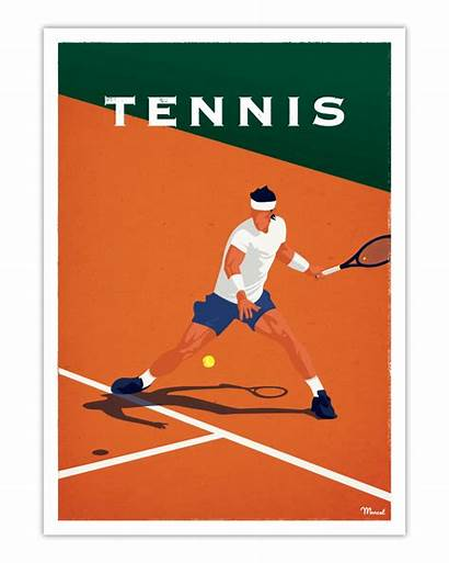 Tennis Poster Marcel Posters Cm
