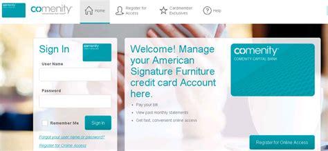 comenity net as furniture american signature furniture