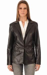 Blazer Femme Noir : blazer cuir femme coupe confort la canadienne la ~ Preciouscoupons.com Idées de Décoration