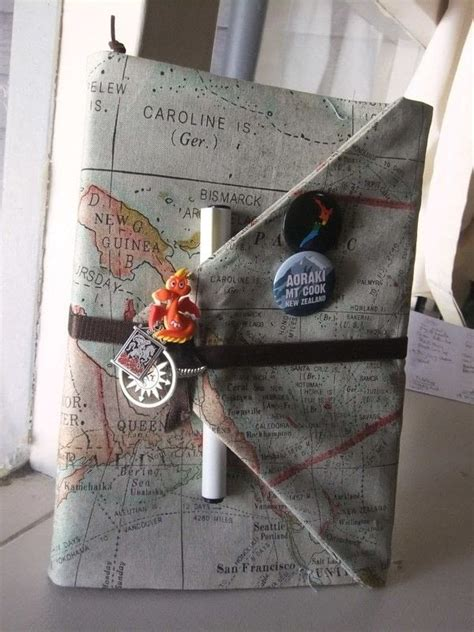 diy fabric journal book cover     travel