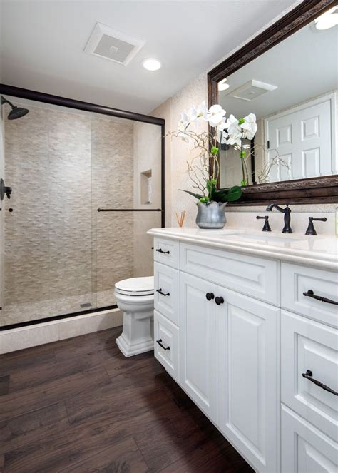 Bathroom With Bronze Fixtures by Bathroom Remodel With Quartz Countertops White