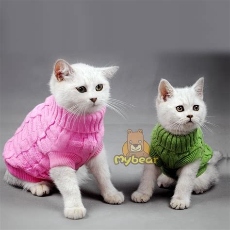 cat sweaters for cats spagetti color warm autumn winter cat sweater pet