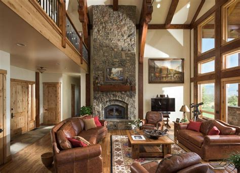 afton wyoming timber home by precisioncraft