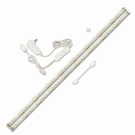 lowes led workshop light shop utilitech 2 pack 18 in plug in under cabinet led tape