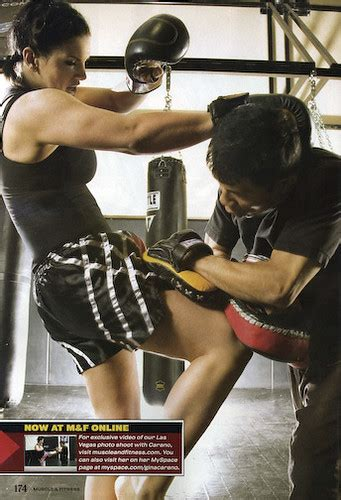 snapshots   day gina carano  muscle fitness bloody elbow
