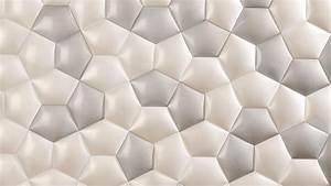 Ceramic Wall Covering Inspired by Mathematics Patterns in