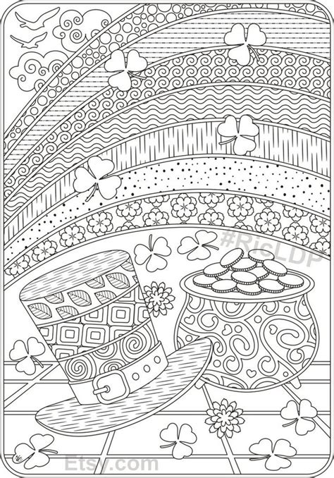 Saint patrick's day coloring page #13081733 st patrick coloring pages religious at getdrawings #13081734 saint patrick coloring page: St Patricks Day Coloring Pages Flowers and Clover Leaves ...