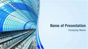 metro rail tunnel powerpoint templates metro rail tunnel With rails html template