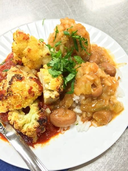 le cordon bleu cuisine foundations cauliflower in curried tomato sauce from le cordon bleu