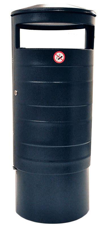 papperskorg classic med askkopp  svart